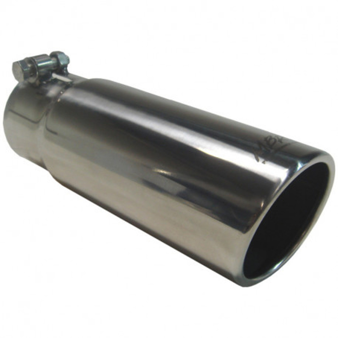 MBRP T5142 3.5 O.D 2.5 Inlet 16 Length T304 Stainless Steel Angled Cut Rolled Exhaust Tip MBRP Exhaust