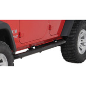 "Rugged Ridge 3"" Black Round Step Bar"