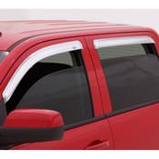 AVS 2pc Chrome Tape On Vent Visors 1999-2016 Ford SuperDuty