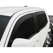 AVS Low Profile 4pc Matte Black Vent Visors 2015-2018 GMC Sierra HD Double Cab