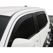 AVS Low Profile 4pc Matte Black Vent Visors 2007-2013 Chevy Silverado 1500 Extended Cab