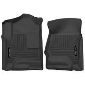 Husky Liners X-Act Contour Black Front Floor Liners For 14-18 GMC Sierra 1500 Crew Cab / Double Cab