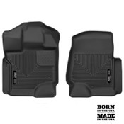 Husky Liners X-Act Contour Front Floor Liners For 17-19 Ford SuperDuty SuperCrew/SuperCab