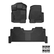 Husky Liners X-Act Contour Front&Rear Floor Liners For 17-19 Ford SuperDuty SuperCrew/SuperCab