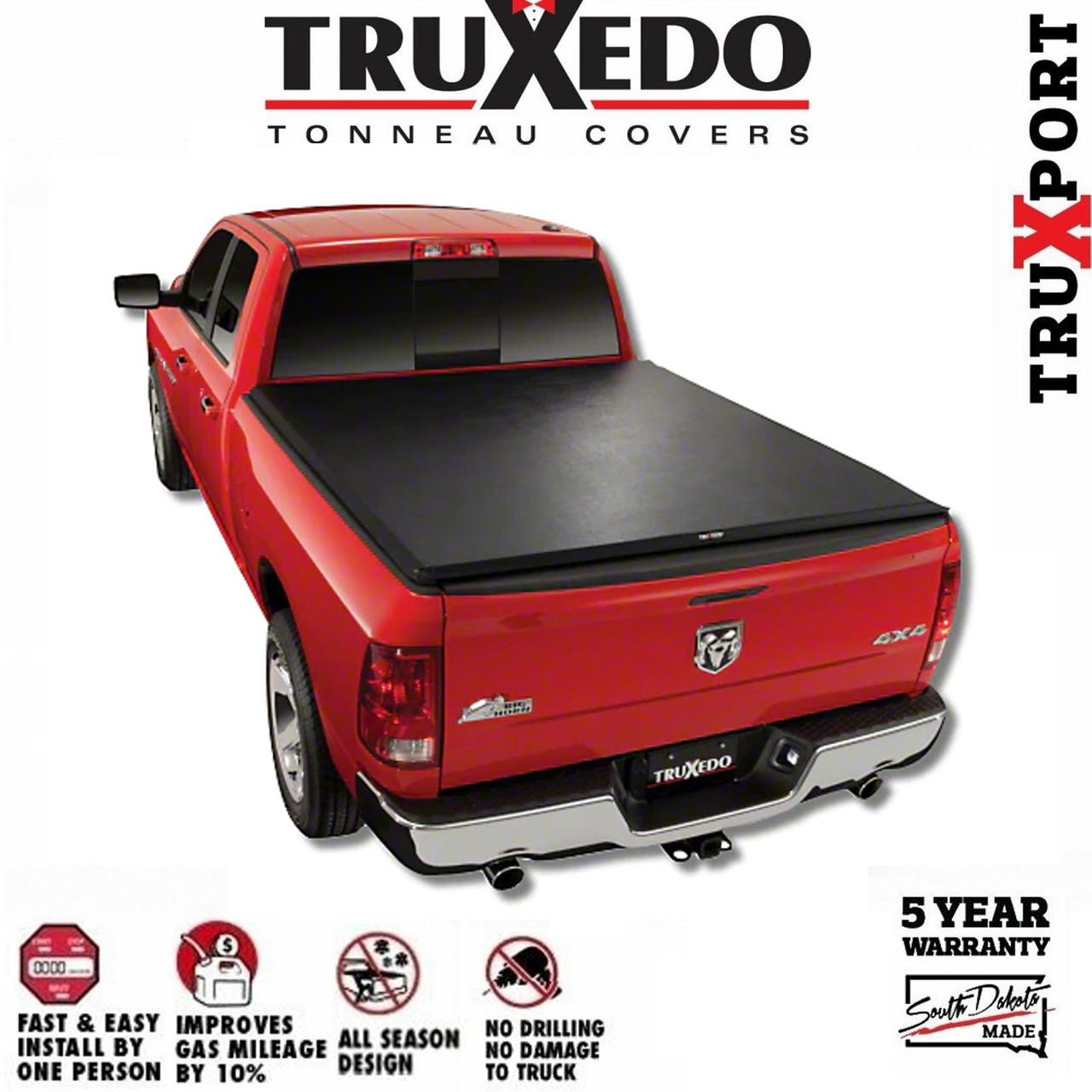 Truxedo Truxport Roll Up Tonneau Cover 2019 Ram 1500 5 7ft Bed W O Rambox