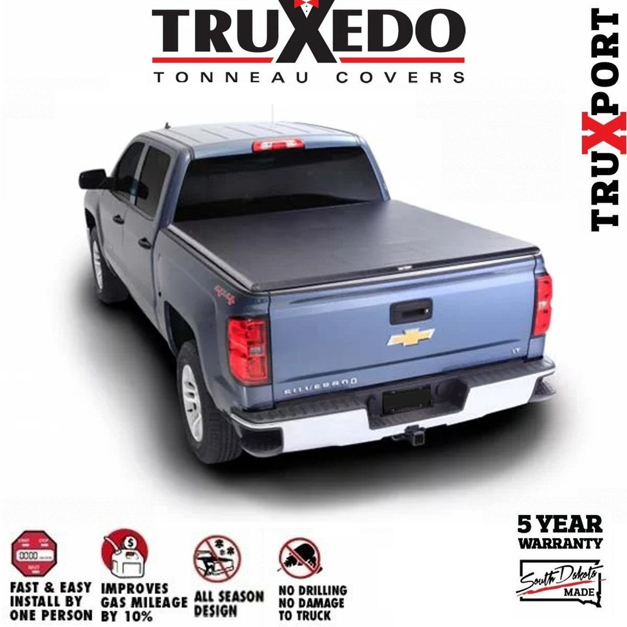 Truxedo Truxport Roll Up Tonneau Cover 2004 2006 Gmc Sierra 1500 5 8ft Bed