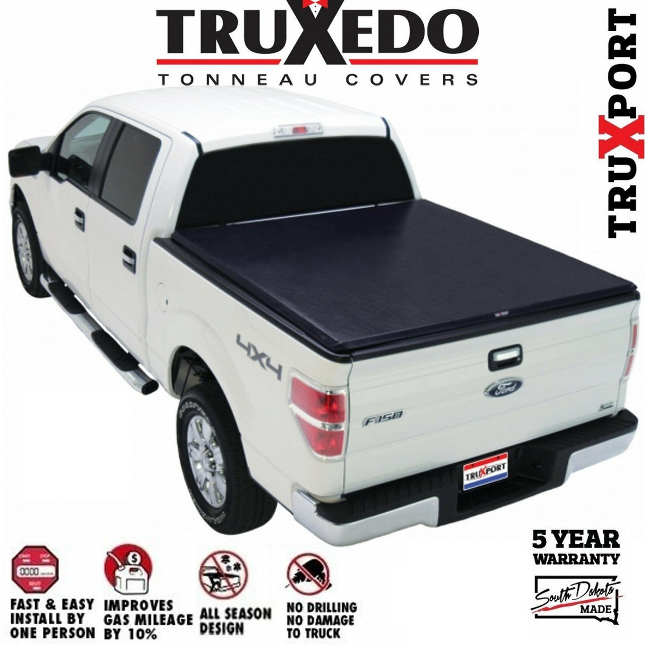 Truxedo Truxport Roll Up Tonneau Cover 2017 2020 Ford Superduty 6 9ft Bed