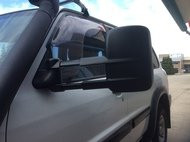 NISSAN GU PATROL EXTENDABLE TOWING MIRRORS -  BLACK FINISH