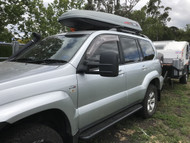 Taurus towing mirrors installed into the Prado 120 Series
