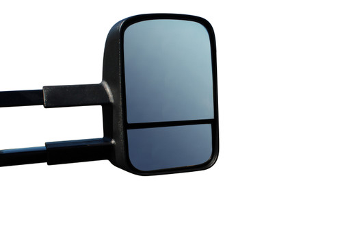 Black finish towing mirrors to suit Holden Colorado 7 SUV