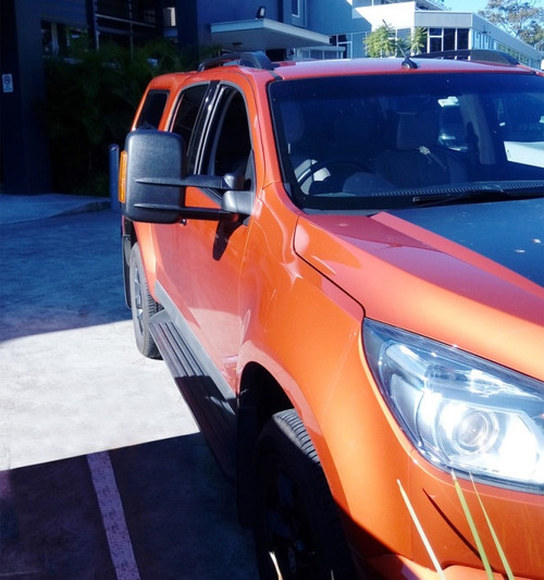 Holden RG Colorado with taurus towing mirrors installed