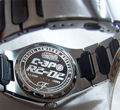 Star Wars Droids Watch Fossil R2D2 and C3PO Wristwatch Li2509 Lmt  Ed