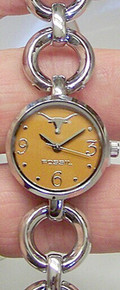 Texas Longhorns Fossil Watch womens Open Link Bracelet Wristwatch