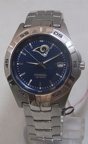St. Louis Rams Watch Fossil Mens Three Hand Date Wristwatch NFL1110