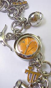 Texas Longhorns Fossil Charm Bracelet Watch Li2453