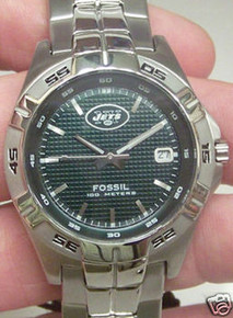New York jets Fossil Watch. Mens Three Hand Date Watch NFL1116