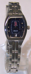 Boston Red Sox Fossil Watch Ladies Defender Three Hand Date Wristwatch