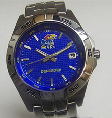 KU Kansas Jayhawks Fossil Watch Mens Three Hand Date Wristwatch Li2950