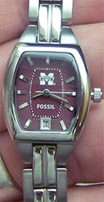 Mississippi State Womens Fossil 3 Hand Watch Li3028