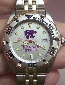 Kansas State Wildcats Mens Watch LogoArt All Star SS with Date