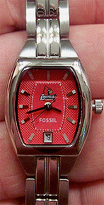 Louisville Cardinals Fossil Watch Three Hand Date Wristwatch  Li3051
