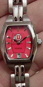 Utah Utes Fossil Womens, Ladies 3 Hand Analog watch with Date Li3075