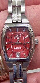 Tampa Bay Buccaneers Fossil Ladies Watch Three Hand Date Cushion watch