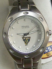 FIU Mens Fossil Watch Florida International University Wristwatch