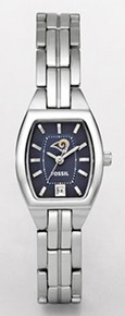 St Louis Rams Fossil Ladies Watch. Womens Cushion with Date NFL1199