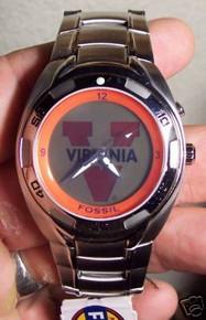 University of Virginia Cavaliers Fossil Flashing Logo Kaleido Watch