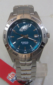 Philadelphia Eagles Fossil Watch. Mens three hand date NFL1048