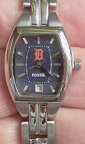 Detroit Tigers Fossil Watch Womens Three Hand Date Wristwatch MLB1010