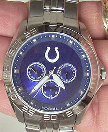 Indianapolis Colts Fossil Watch. Mens Multifunction II wristwatch