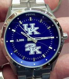 Kentucky Wildcats UK2K Basketball Fossil Logo Watch Mens LI3091