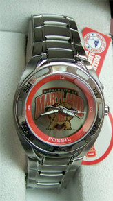 Maryland Terrapins Fossil Watch Kaleido Flashing logo Mens Li2370