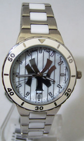 New York Yankees Mother of Pearl Watch Game Time MOP Womens Wristwatch