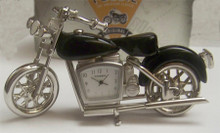 Fossil Motorcycle Desk Clock Novelty Collectible die cast biker Clock