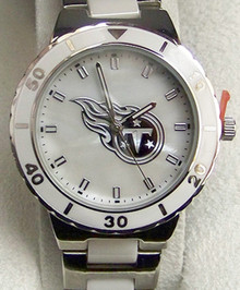 Tennessee Titans Pearl Watch Ladies Womens Game Time MOP Wristwatch