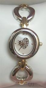 Jennifer Lopez Jlo two tone MOP Open Link Heart Watch