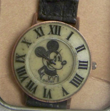 Mickey Mouse Fossil Watch Vintage black and white Mens New
