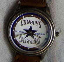 Dallas Cowboys Fossil Super Bowl XXVIII Watch Mens Vintage Watch 1994