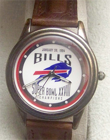 Buffalo Bills Fossil Watch Super Bowl XVIII Collectible Vintage Lmt Ed