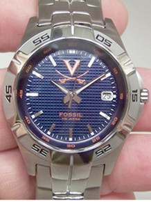 Virginia Cavaliers Fossil Watch Mens Three Hand Date Wristwatch