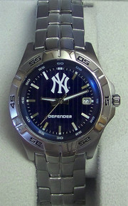New York Yankees Fossil Watch Mens Three Hand Date Wristwatch