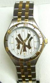 New York Yankees Watch Mens Game Time Gold Logo Wristwatch