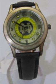 Notre Dame Irish Fossil Watch Mens Vintage Black Limited Edition