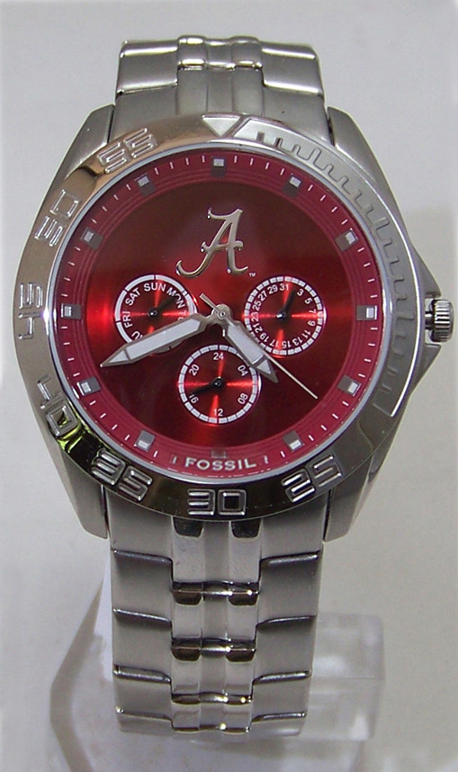 Alabama Crimson Tide Fossil Watch Mens Multifunction Wristwatch