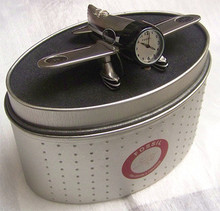 Fossil Airplane 54 Desk Clock. Vintage Novelty LE Collectible