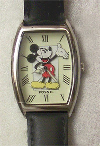 Mickey Mouse Fossil Watch. Vintage Silver Tone Lmt Ed Li1452 Mint