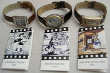 Disney Classic Films Fossil Watch set Mickey Steamboat, Goofy, Donald